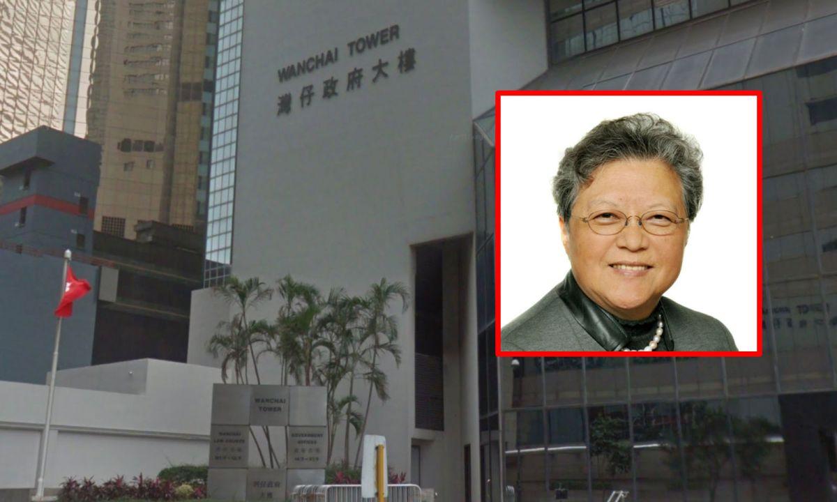 The District Court in Wanchai with Rita Fan Hsu Lai-tai (inset). Photo: Google Maps, http://www.npcfan.hk/