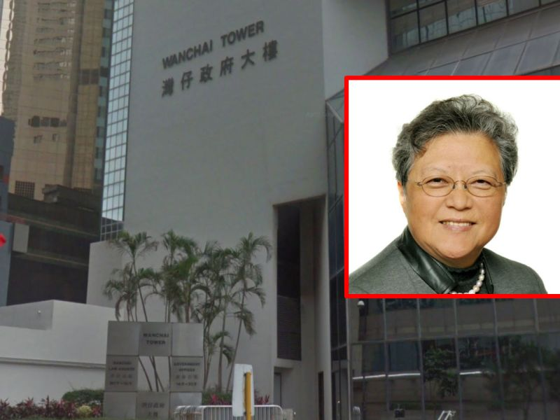 The District Court in Wanchai with Rita Fan Hsu Lai-tai (inset). Photo: Google Maps, http://www.npcfan.hk/
