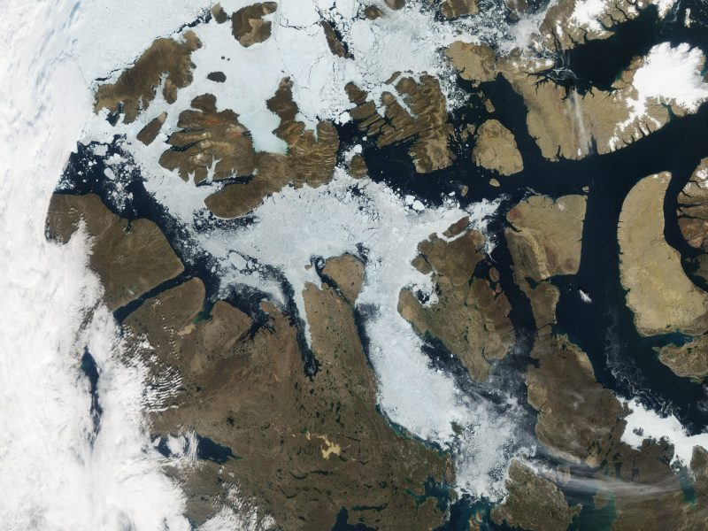 Aerial view of the Northwest Passage. Photo: Wikipedia