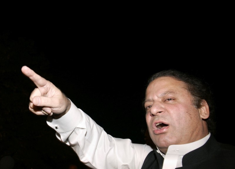 Pakistan's former prime minister Nawaz Sharif addresses supporters during a rally in Gujranwala, near Lahore, in a file photo. Photo: Reuters/Mohsin Raza