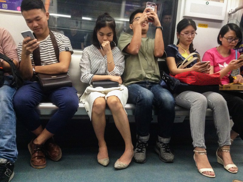 A subway car in Guangzhou, where 'women only' carriages are being tried. Photo: iStock