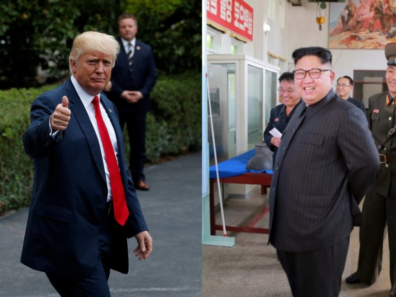 Chatting through proxies? US President Donald Trump and North Korea's leader Kim Jong Un.
