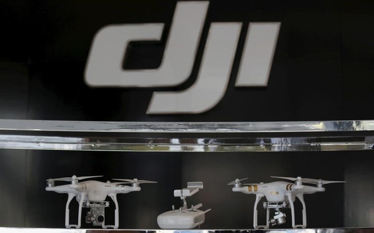 DJI drones displayed in the company's first flagship store in Shenzhen, China.   Photo: Reuters/Bobby Yip