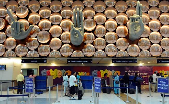 Indira Gandhi International Airport in New Delhi was the scene of a bomb scare on Wednesday. Photo: NDTV