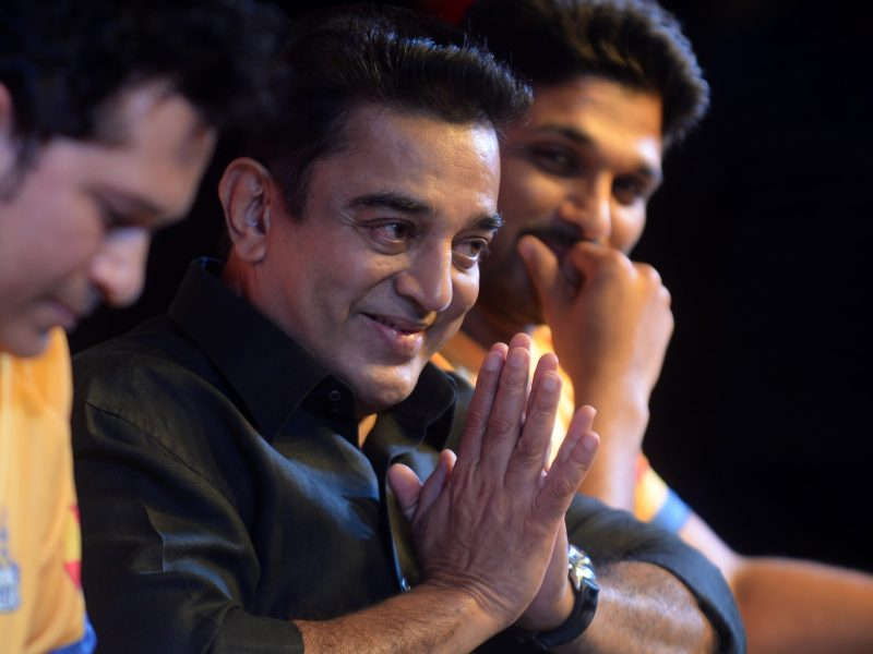 Indian movie actor Kamal Hassan. Photo: AFP / Arun Sankar