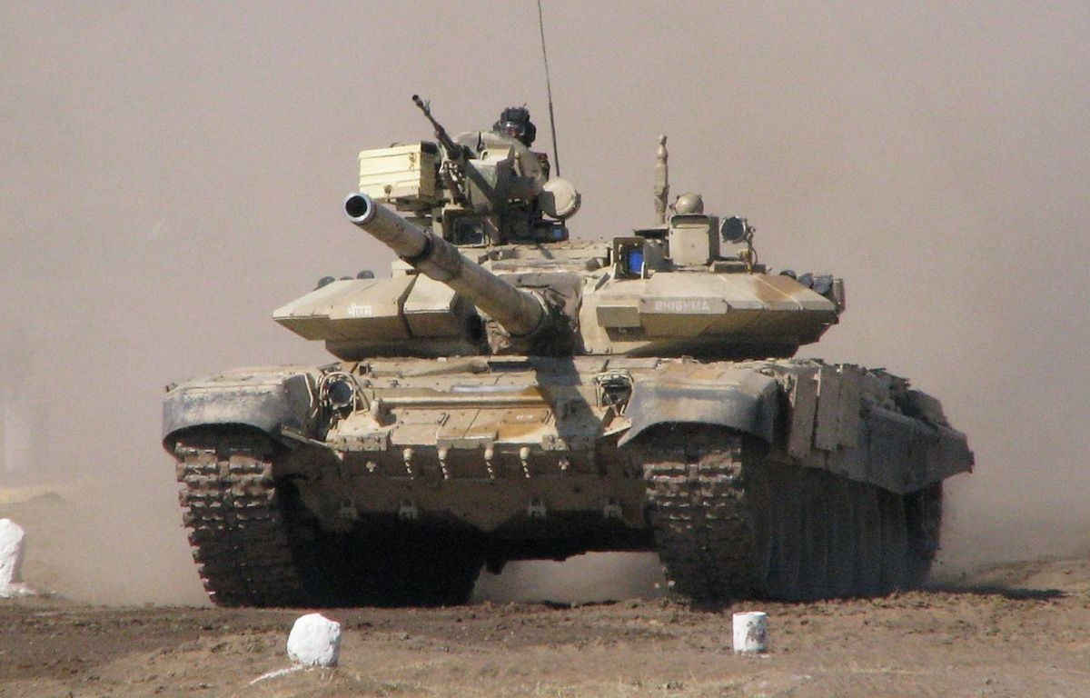 The Indian Army has Russian-made T-90 tanks. Photo: Wikimedia Commons