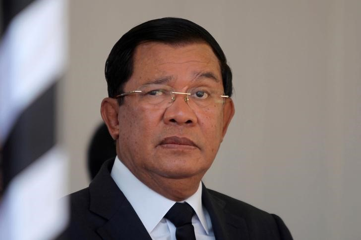 Cambodian Prime Minister Hun Sen in a March 19, 2017 file photo. Photo: Reuters/Samrang Pring