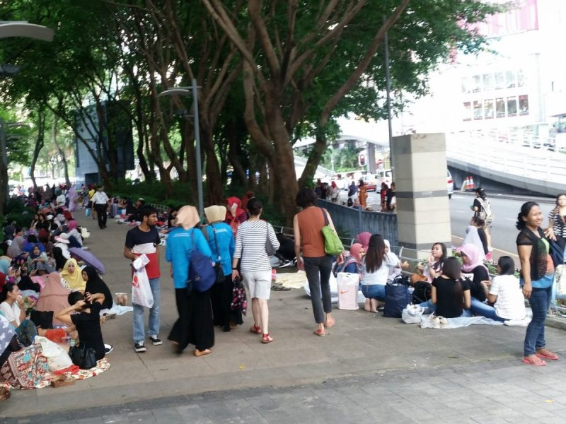 Domestic workers in Causeway Bay. Photo: Asia Times
