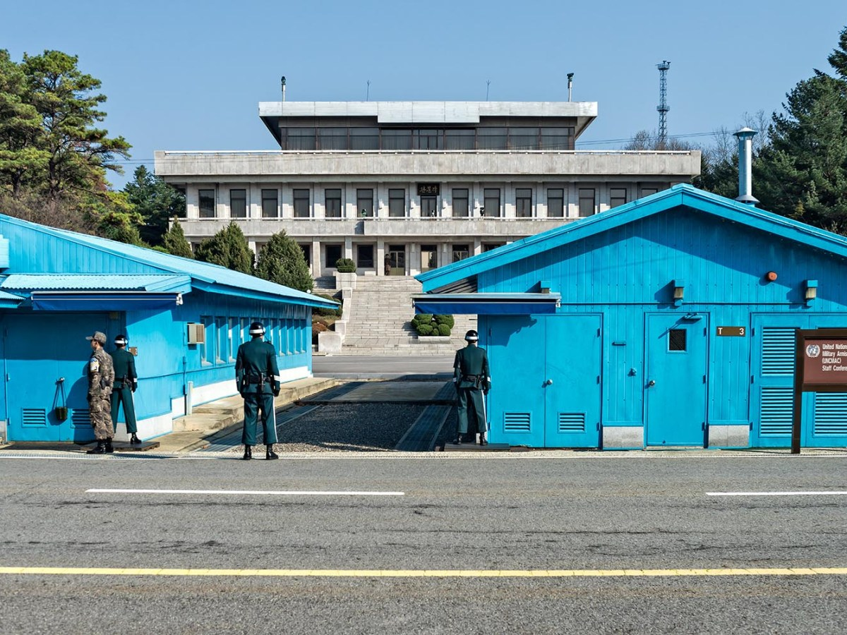 South Korean Soldiers at the Joint Security Area facing the North Korean side of the border. Photo: iStock