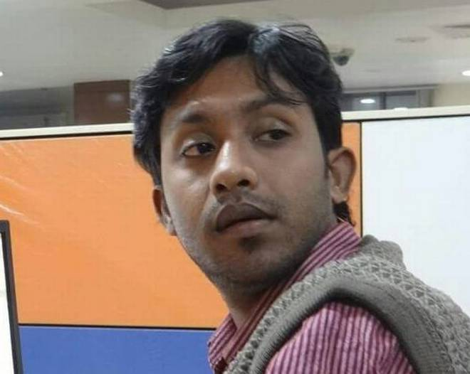 Santanu Bhowmik, 28, was hacked to death in West Tripura on Wednesday. Photo: The Hindu