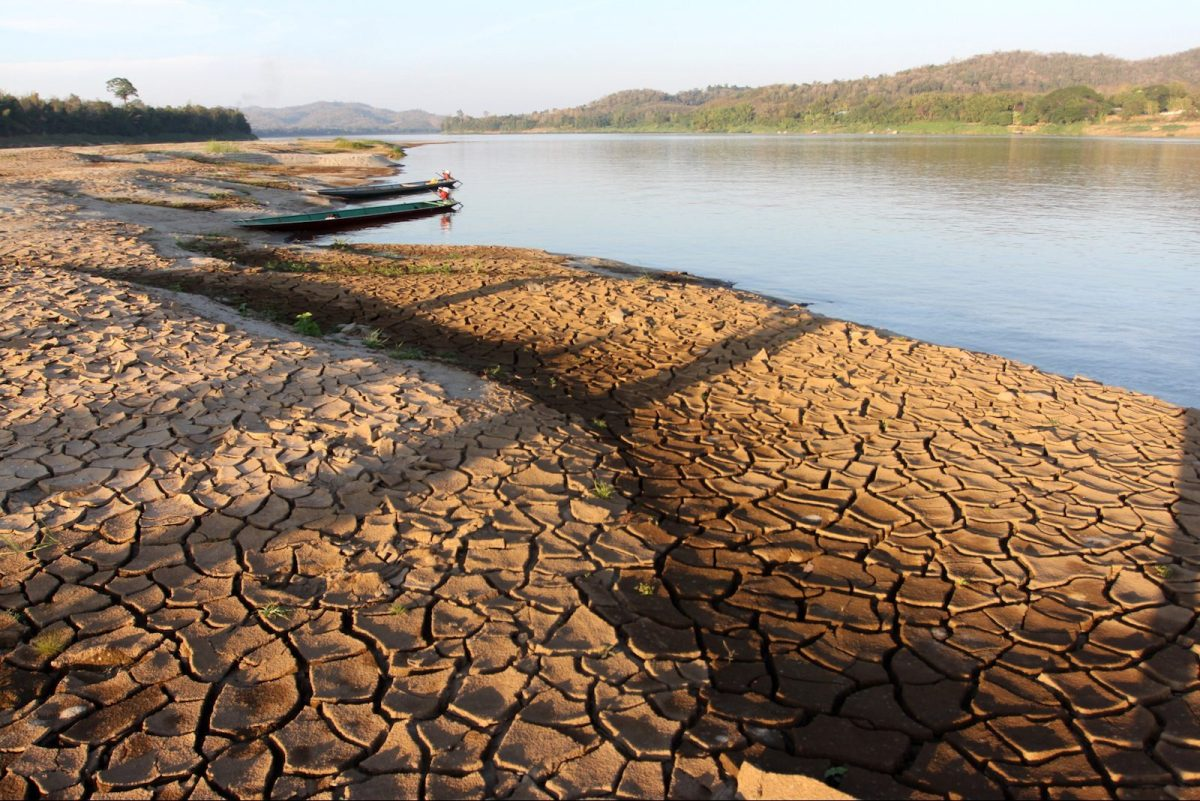Water levels run low on the Mekong River. Photo: AFP Forum/Paritta Wangkiat