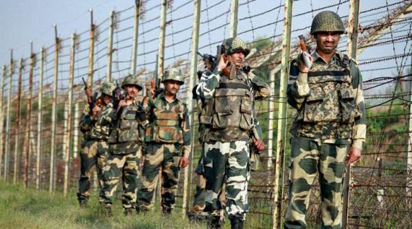 Border Security Force troops on patrol. Representational image: The Indian Express