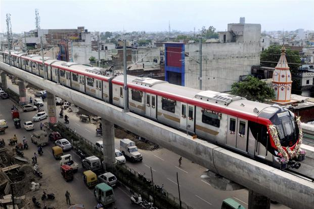 The Lucknow Metro. Photo: live mint