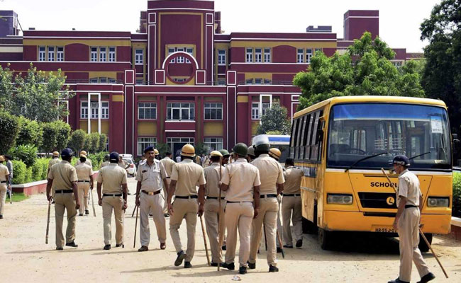 A seven-year-old boy was found dead at Ryan International School in Gurgaon on Friday. Photo: NDTV