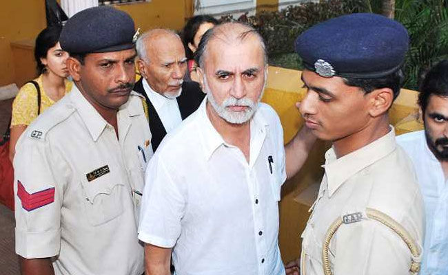 Tarun Tejpal, former editor-in-chief of the news magazine Tehelka, outside court in Goa. Photo: NDTV