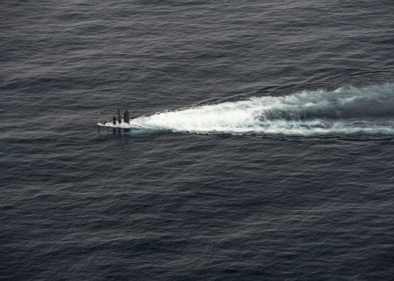 Republic of Korea Navy submarine maneuvers during a combined maritime operation in the waters East of the Korean Peninsula. Photo: US Navy/MC2 Will Gaskill via AFP