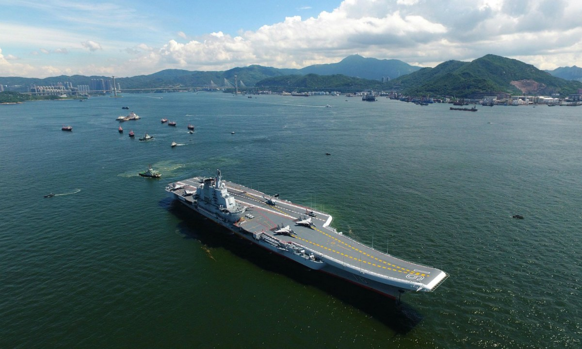 The Liaoning aircraft carrier. Photo: Xinhua