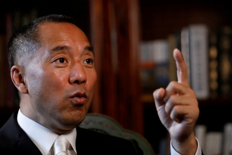 Billionaire businessman Guo Wengui.   Photo: Reuters / Brendan McDermid