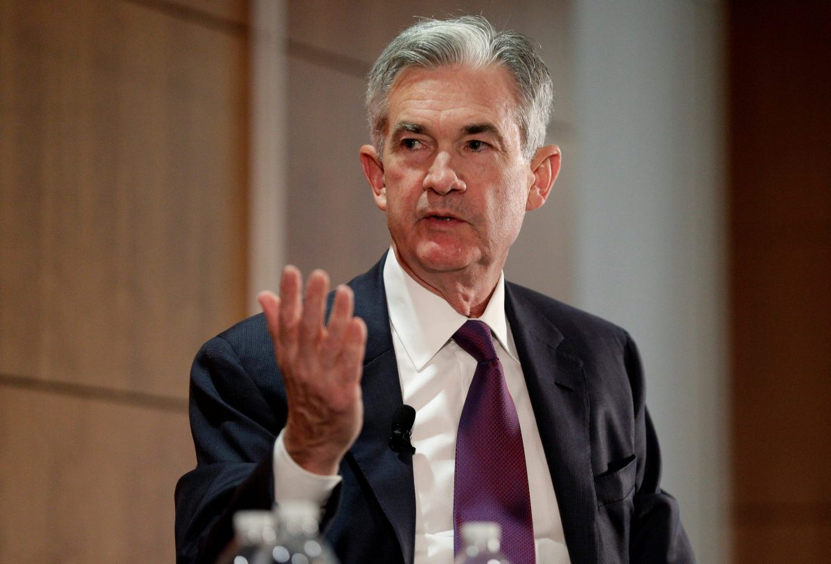 Federal Reserve Board Governor Jerome Powell discusses financial regulation in Washington. Photo: Reuters/Joshua Roberts