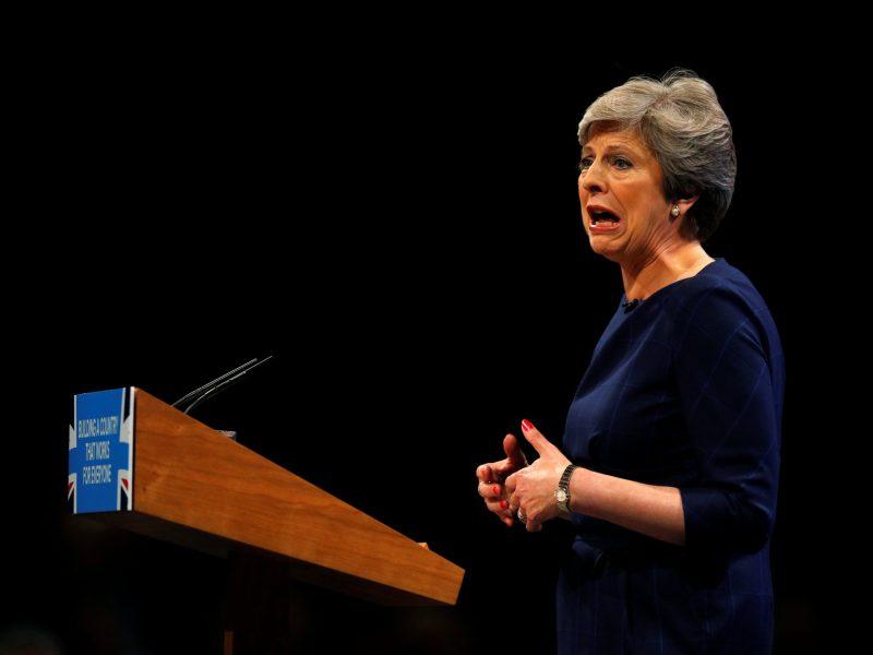 UK PM Theresa May. Photo: Reuters/Phil Noble