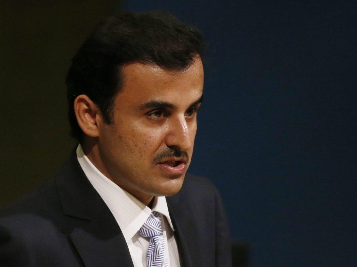 Qatar Emir Sheikh Tamim bin Hamad al-Thani addresses the 72nd UN General Assembly in New York, on September 19, 2017. Photo: Reuters / Shannon Stapleton