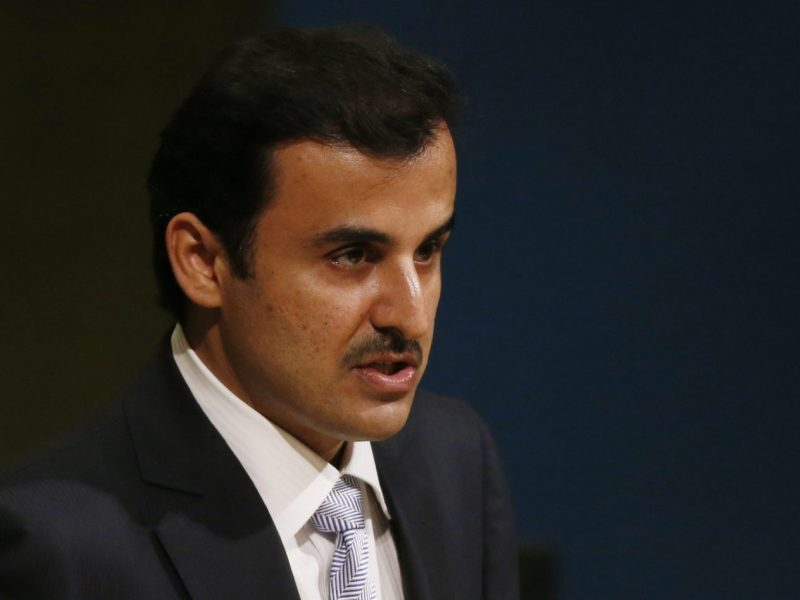 Qatar Emir Sheikh Tamim bin Hamad al-Thani addresses the 72nd UN General Assembly in New York, on September 19, 2017. Photo: Reuters / Shannon Stapleton