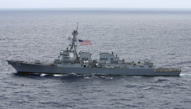 The USS Chafee, a destroyer. Photo: Reuters / Hugh Gentry