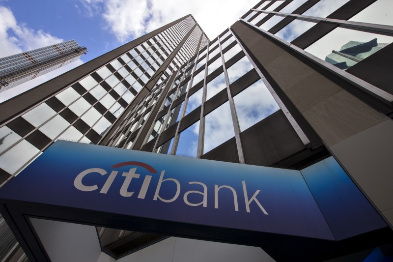 A view of the exterior of the Citibank corporate headquarters in New York. Photo: Reuters/Mike Segar