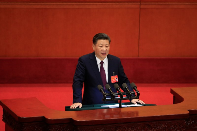 Chinese President Xi Jinping speaks during the opening of the 19th National Congress of the Communist Party of China at the Great Hall of the People in Beijing on October 18. Photo: Reuters / Aly Song