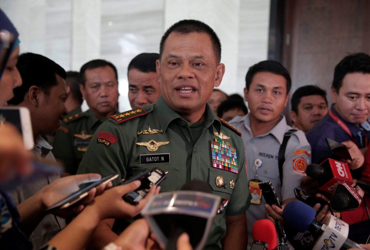 Indonesian military Chief Gatot Nurmantyo. Photo: Reuters / Beawiharta