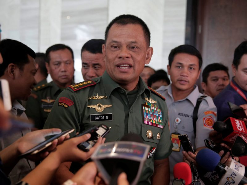 Indonesian military Chief Gatot Nurmantyo. Photo: Reuters / Beawiharta