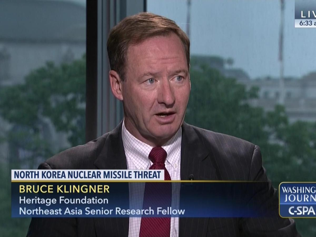 Former CIA deputy division chief for Korea, Bruce Klingner. Source: C-Span
