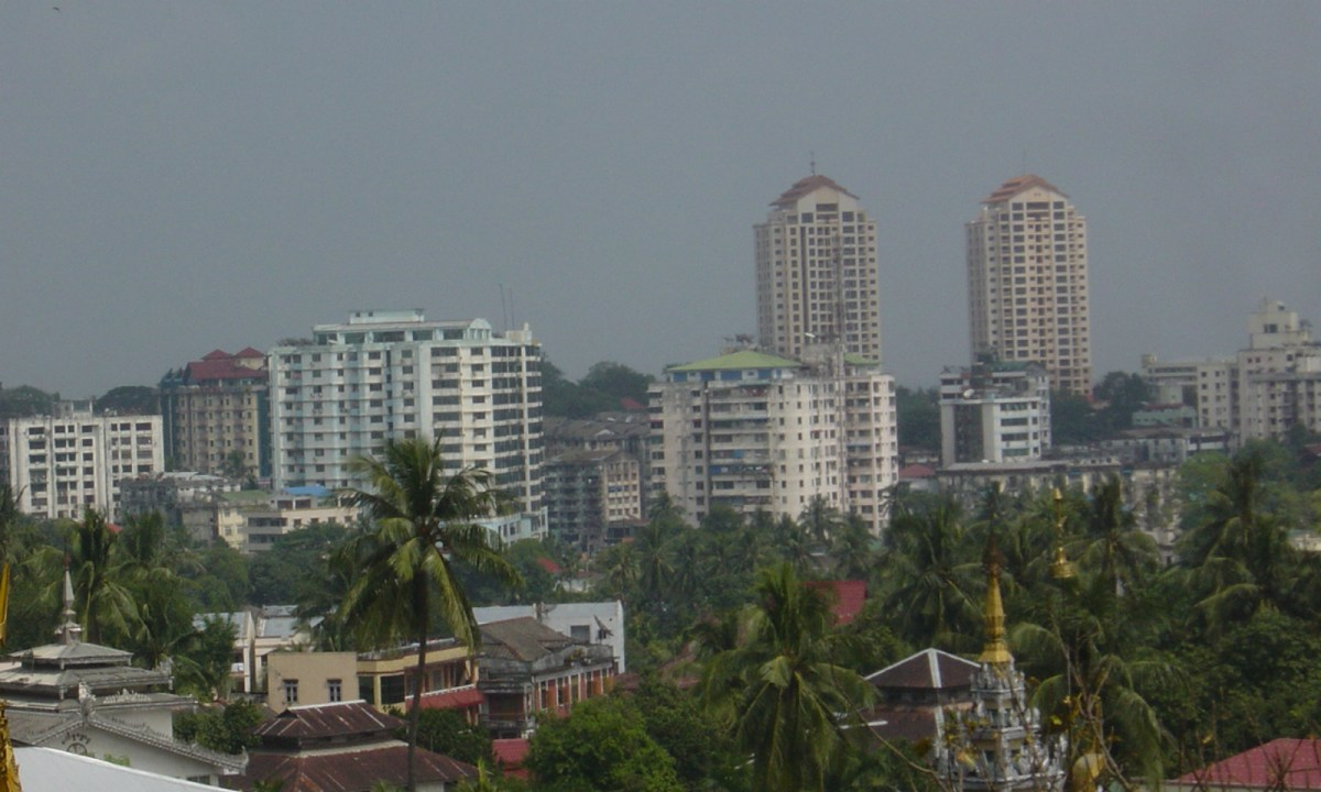 Central Yangon, Myanmar. Photo: Wikimedia Commons/Sky89