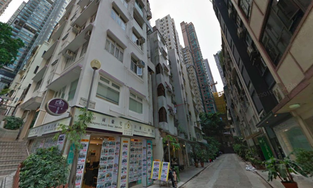 The Mid-levels in Central on Hong Kong Island. Photo: Google Maps
