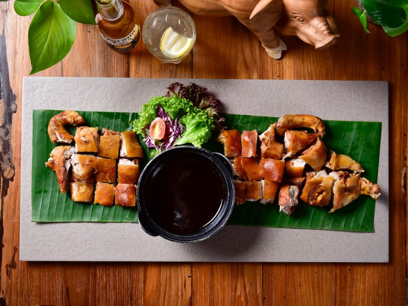 A sample dish of Naughty Nuri's region-renowned barbecue suckling pork. Photo: Courtesy of Naughty Nuri's