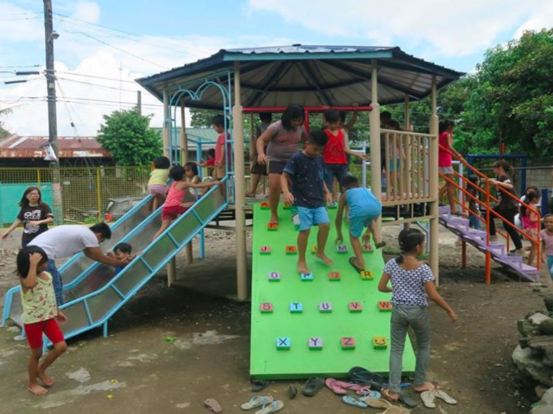 The new playground in San Pablo City. Photo: Facebook, Be a Global Citizen Campaign