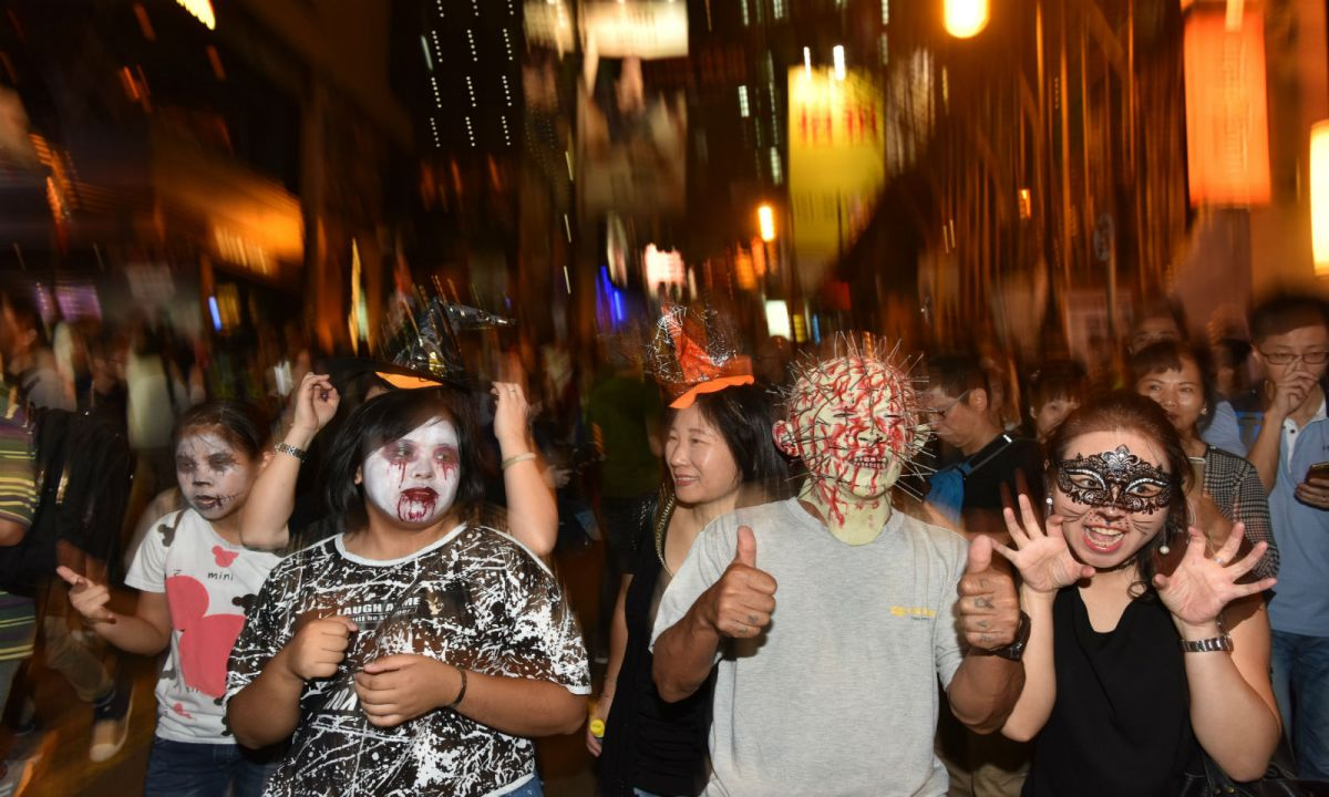 Halloween in Lan Kwai Fong, Hong Kong Island.Photo: HK Government
