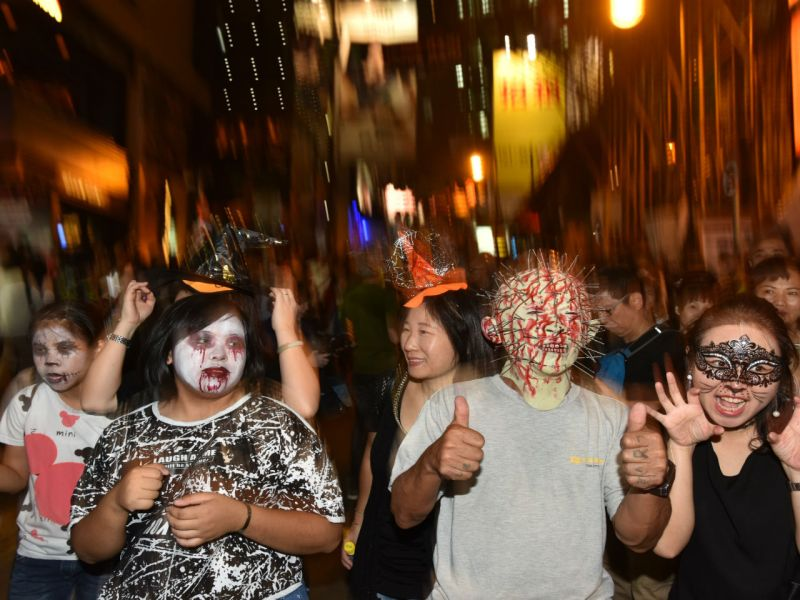 Halloween in Lan Kwai Fong, Hong Kong Island. Photo: HK Government