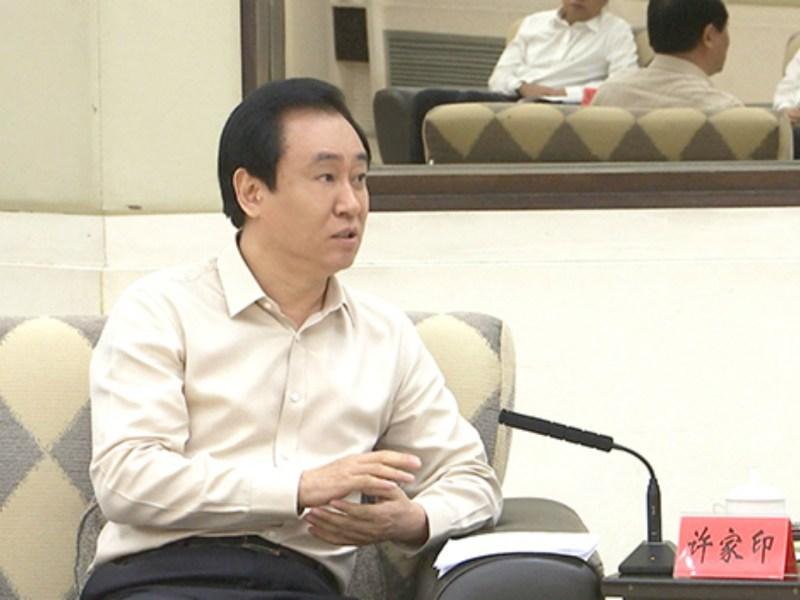 Property tycoon Hui Ka Yan (or Xu Jiayin), whose company China Evergrande backed many poverty alleviation projects last year. Photo: China Evergrande