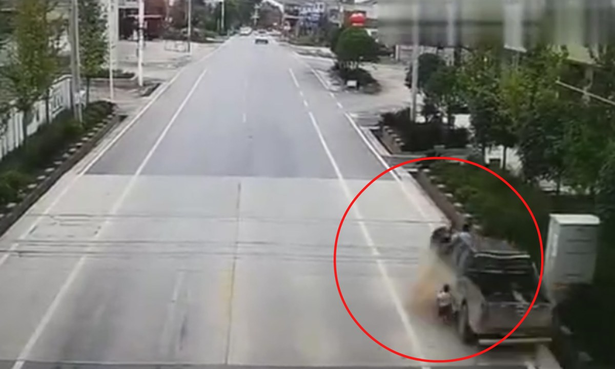 The fatal accident occurred in Shebang Town, Liuyang, Hunan province. Photo: Tencent video
