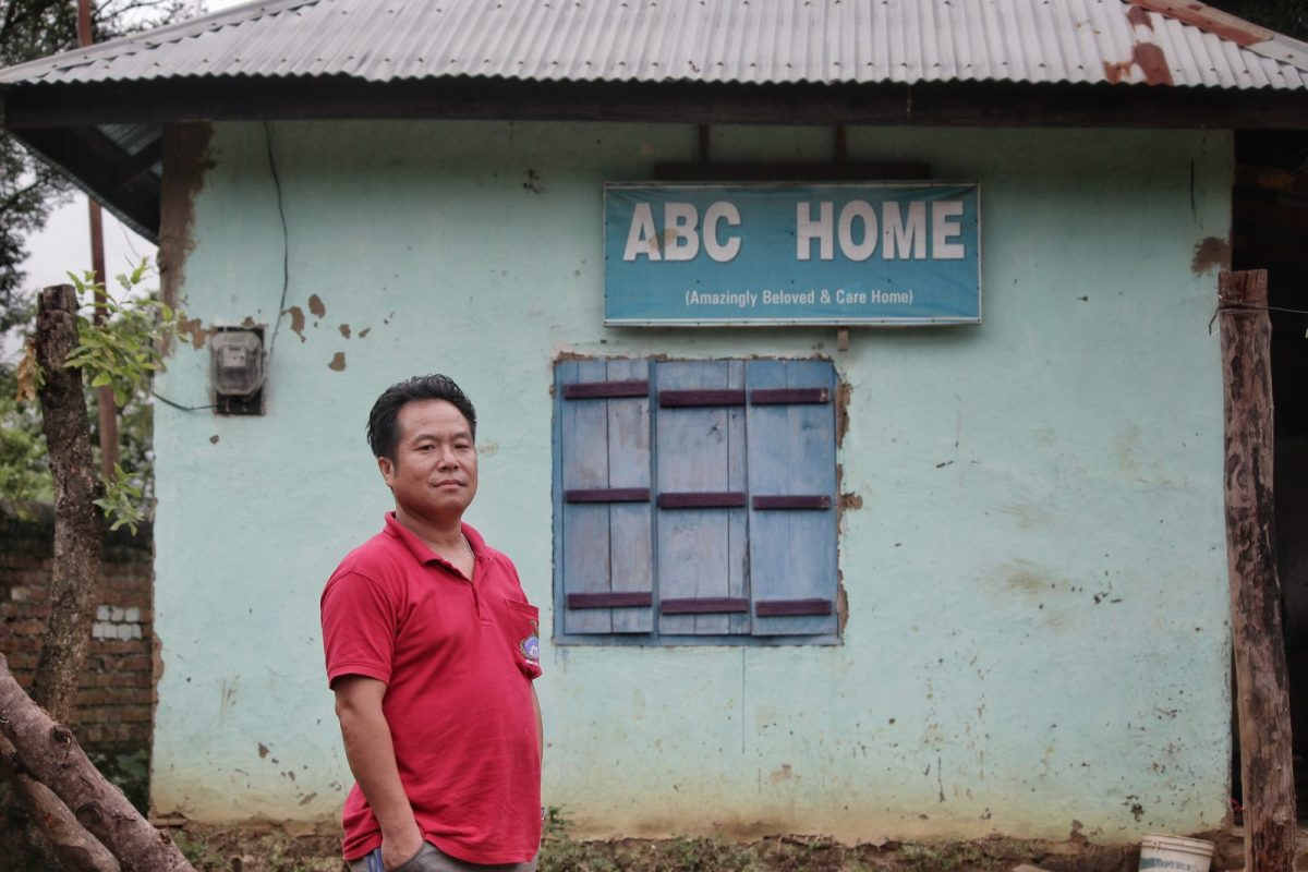 Pastor Elvis outside the orphanage he helped build in the strife-torn state of Manipur, where he is now building a peace process among warring groups. Photo: George A K Neihsial