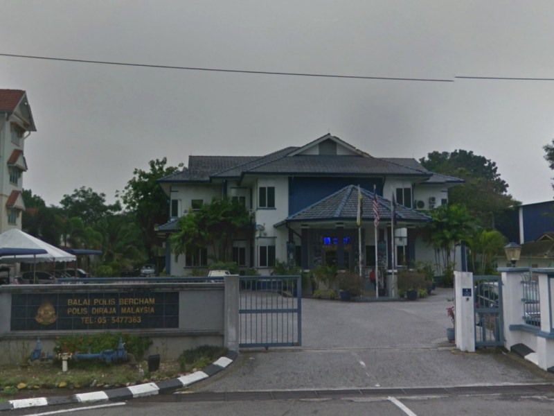 Bercham Police Station in Ipoh, Perak, Malaysia. Photo: Google Maps
