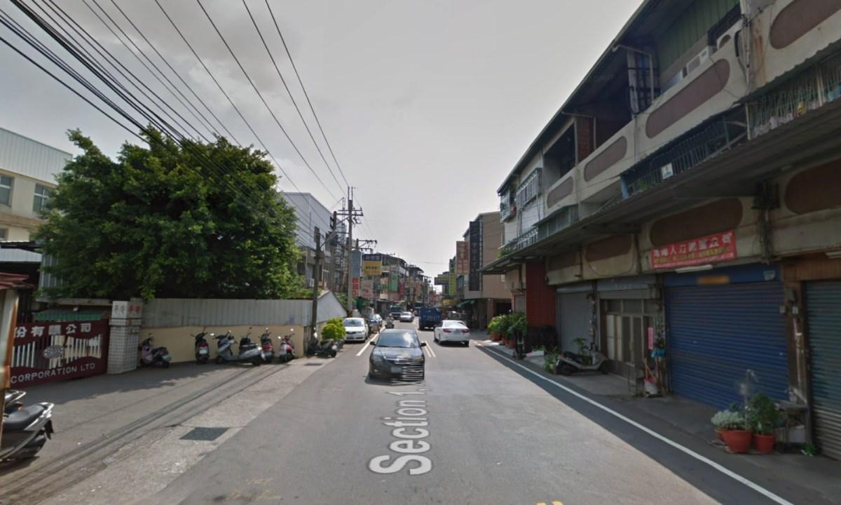 Section 1 of Xinren Road, Taichung City, Taiwan. Photo: Google Maps