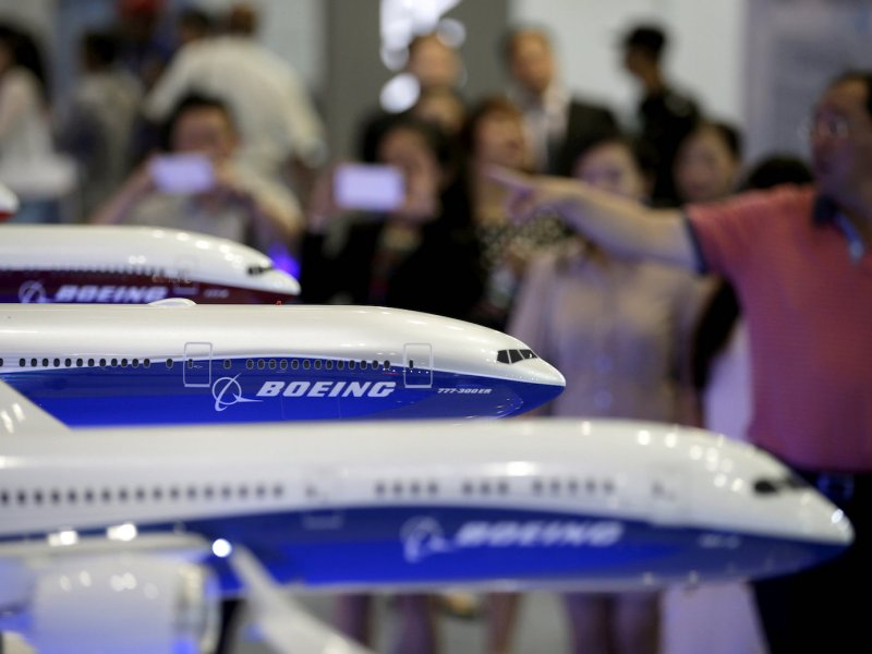 Models of Boeing aircraft at the Aviation Expo China 2015, in Beijing, China, in this September 16, 2015.   REUTERS/Jason Lee