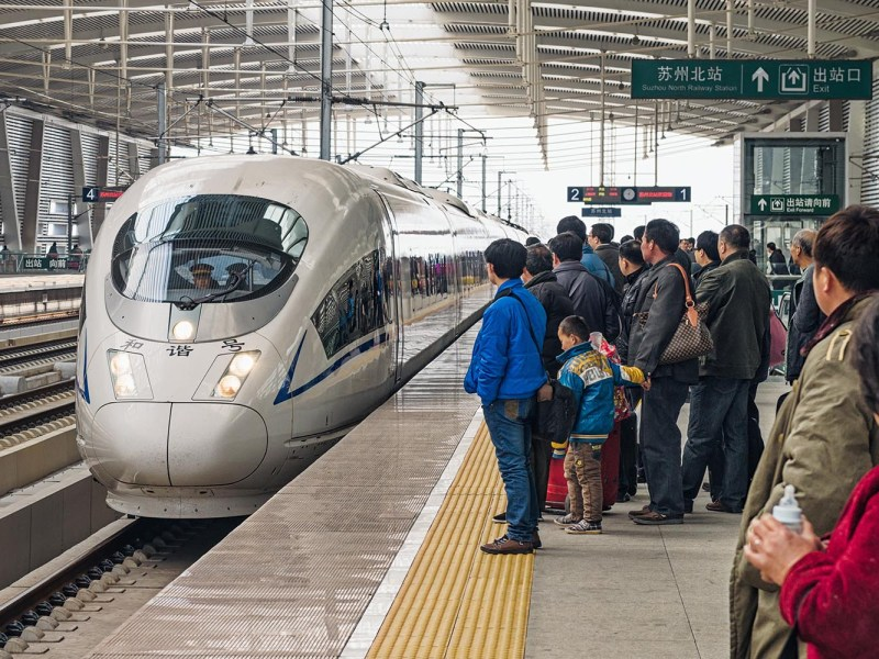 Passengers wait for a high speed train on the Shanghai to Beijing high speed rail line at Suzhou's North Railway Station. Photo: iStock