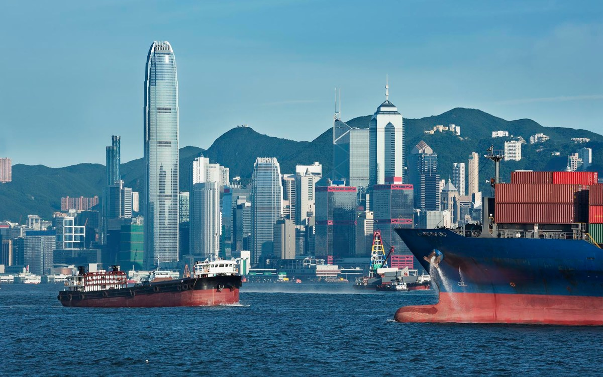 A view of Hong Kong Island from across the harbor in Kowloon. Photo: iStock