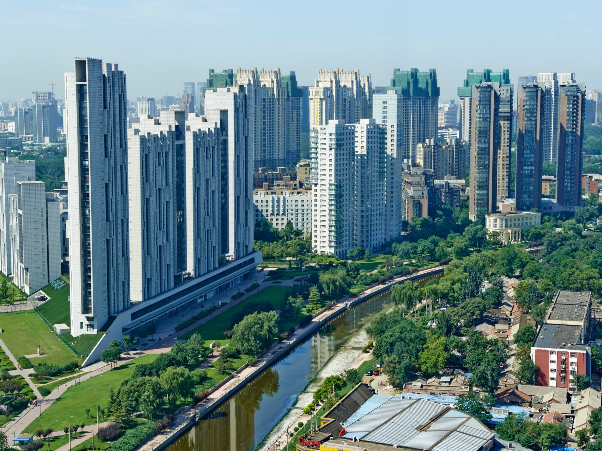 A contemporary architecture design residential complex located in Hongxia Road, Chaoyang district in Beijing. Photo: iStock