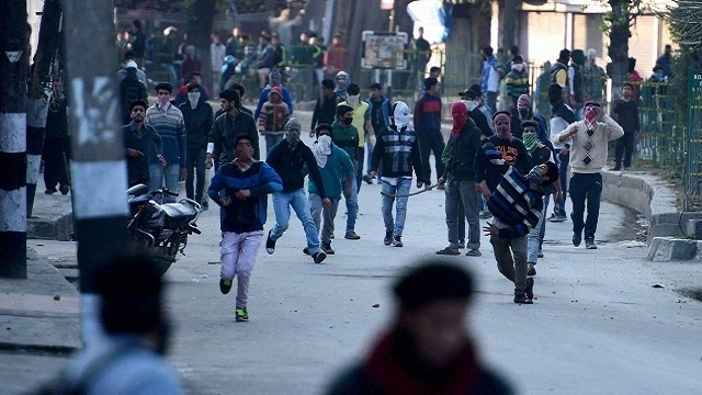 A file image of violence in Kashmir's Handwara. The Indian state has now to offer something tangible to satisfy most aspirations in Kashmir. (Image via PTI)