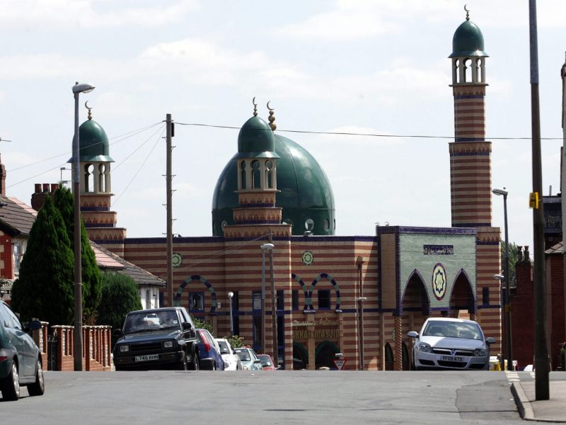 A mosque on Thornhill Road in the Hyde Park area of Leeds, Britain. Photo: AFP / Steve Parkin