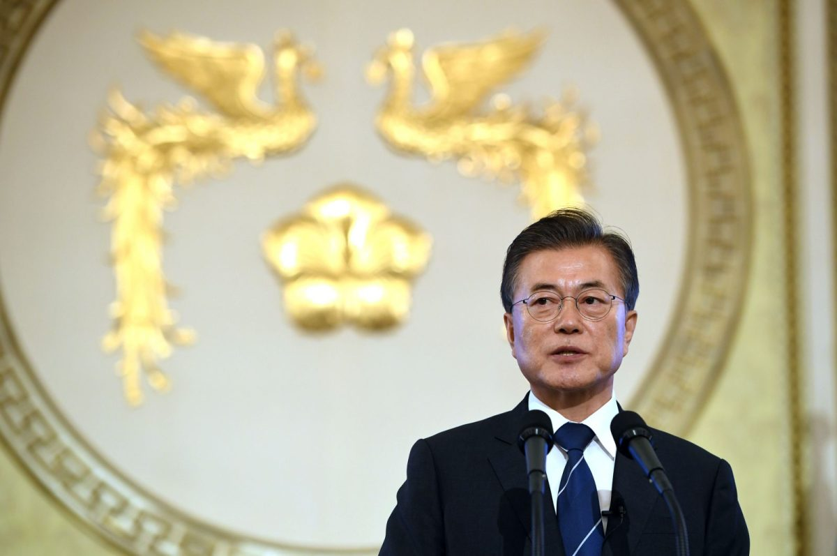 South Korea's President Moon Jae-In. Photo: AFP / Jung Yeon-Je